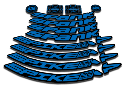 2016-17 SPANK SPIKE 28 RACE 27.5 blue rim sticker