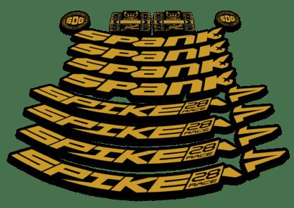 2016-17 SPANK SPIKE 28 RACE 27.5 gold rim sticker