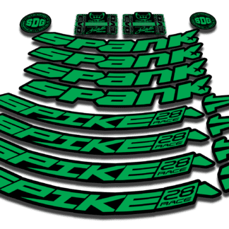 2016-17 SPANK SPIKE 28 RACE 27.5 green rim sticker