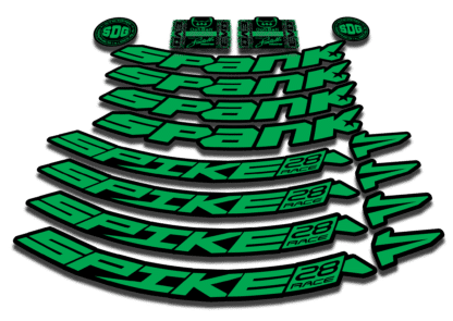 2016-17 SPANK SPIKE 28 RACE 27.5 green rim sticker
