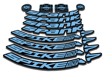 2016-17 SPANK SPIKE 28 RACE 27.5 light blue rim sticker