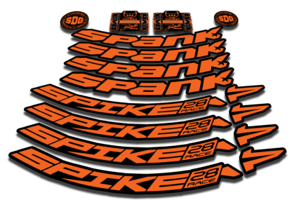 2016-17 SPANK SPIKE 28 RACE 27.5 orange rim sticker