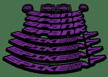 2016-17 SPANK SPIKE 28 RACE 27.5 purple rim sticker