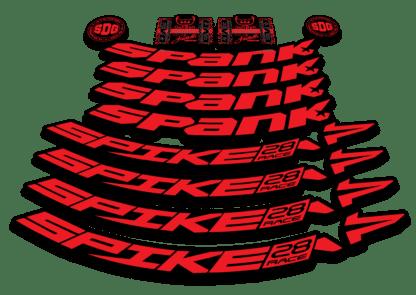 2016-17 SPANK SPIKE 28 RACE 27.5 red rim sticker