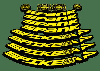 2016-17 SPANK SPIKE 28 RACE 27.5 yellow rim sticker