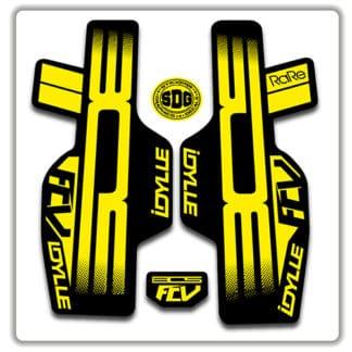 2017 BOS IDYLL RARE FCV stickers yellow