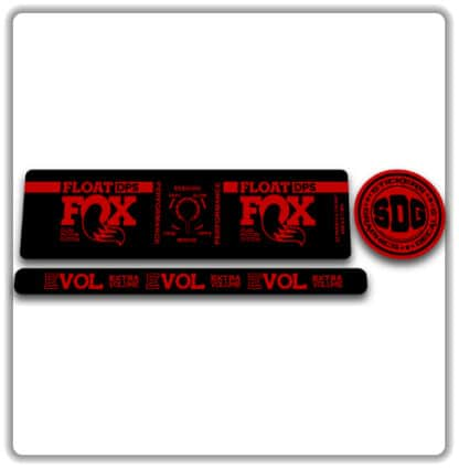 Fox Float DPS Performance Rear Shock Stickers 2019 2020