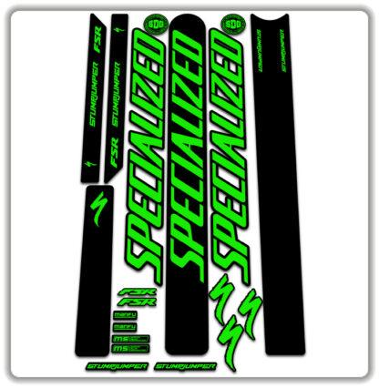 Fluorescent Green Specialized Stumpjumper FSR Stickers