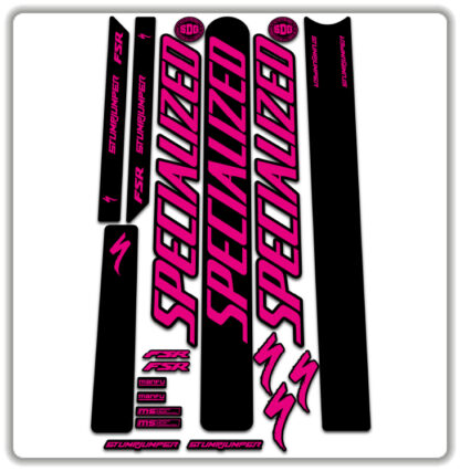 Fluorescent Pink Specialized Stumpjumper FSR Stickers