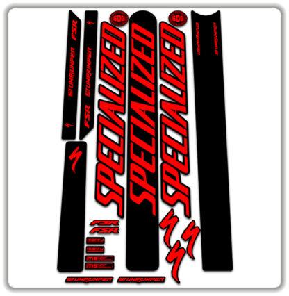 Fluorescent Red Specialized Stumpjumper FSR Stickers