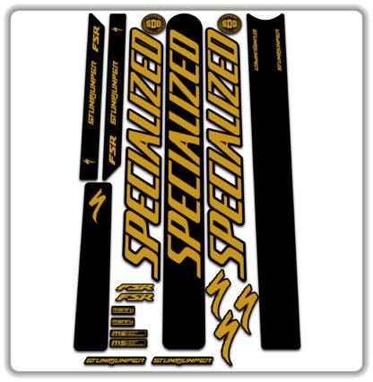 Gold Specialized Stumpjumper FSR Stickers