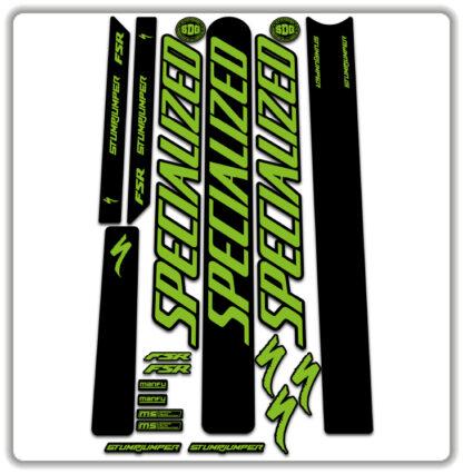 Green Specialized Stumpjumper FSR Stickers