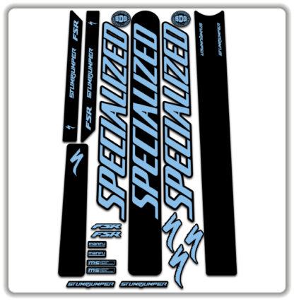 Light Blue Specialized Stumpjumper FSR Stickers