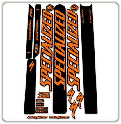 Orange Specialized Stumpjumper FSR Stickers