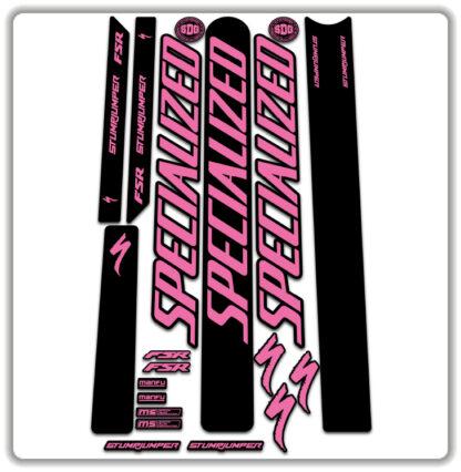 Pink Specialized Stumpjumper FSR Stickers