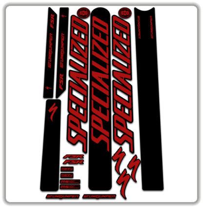 Red Specialized Stumpjumper FSR Stickers