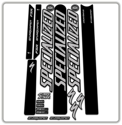 Silver Grey Specialized Stumpjumper FSR Stickers