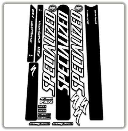 White Specialized Stumpjumper FSR Stickers