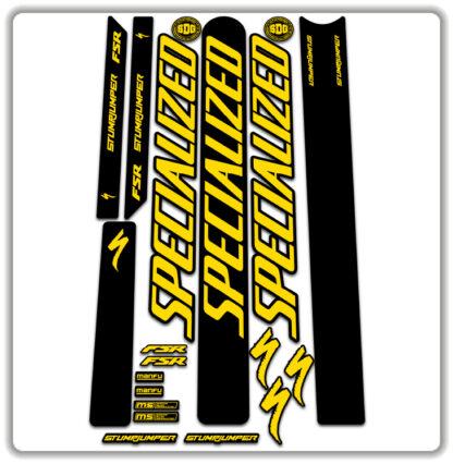 Yellow Specialized Stumpjumper FSR Stickers