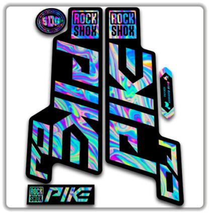ROCKSHOX-PIKE-DJ-fork-stickers-Oil-Slick