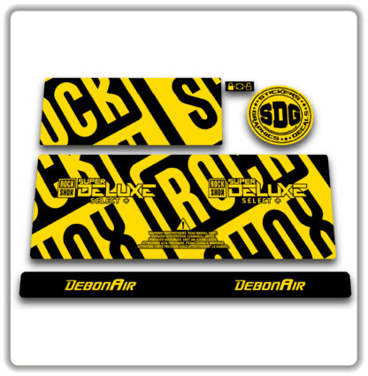 2020- 21 ROCKSHOX SUPER DELUXE SELECT+ stickers -