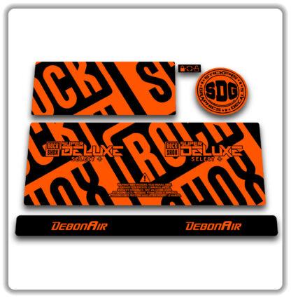 2020- 21 ROCKSHOX SUPER DELUXE SELECT+ stickers - Fluorescent Orange