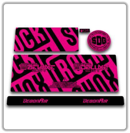 2020- 21 ROCKSHOX SUPER DELUXE SELECT+ stickers - Fluorescent Pink