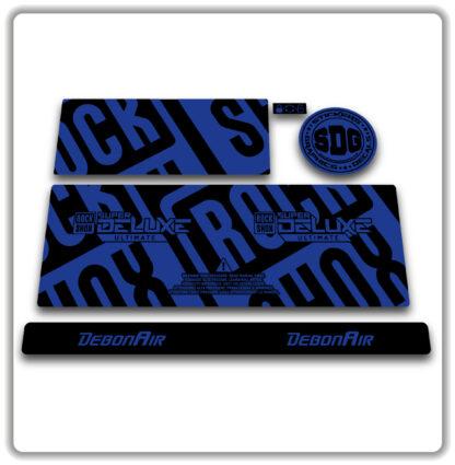2020- 21 ROCKSHOX SUPER DELUXE ULTIMATE - stickers - Blue