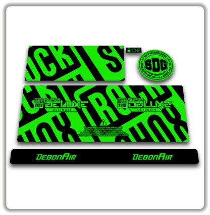 2020- 21 ROCKSHOX SUPER DELUXE ULTIMATE - stickers - Fluorescent Green