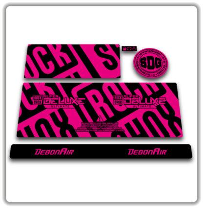 2020- 21 ROCKSHOX SUPER DELUXE ULTIMATE - stickers - Fluorescent Pink