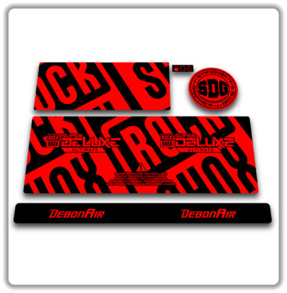 2020- 21 ROCKSHOX SUPER DELUXE ULTIMATE - stickers - Fluorescent Red