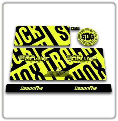 2020- 21 ROCKSHOX SUPER DELUXE ULTIMATE - stickers - Fluorescent Yellow