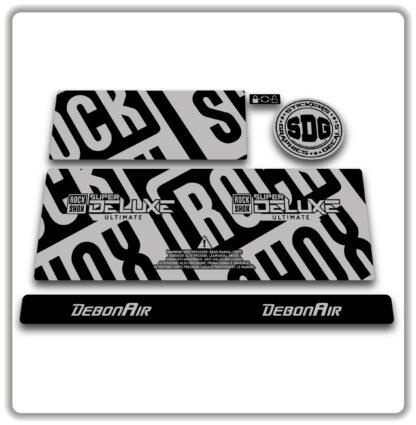 2020- 21 ROCKSHOX SUPER DELUXE ULTIMATE - stickers - Silver Grey