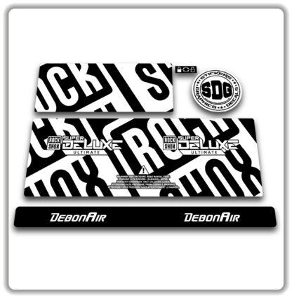 2020- 21 ROCKSHOX SUPER DELUXE ULTIMATE - stickers - White
