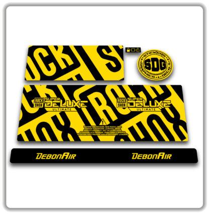 2020- 21 ROCKSHOX SUPER DELUXE ULTIMATE - stickers - Yellow