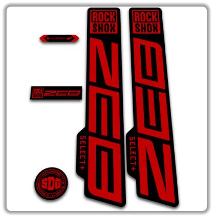 ROCKSHOX ZEB SELECT fork stickers