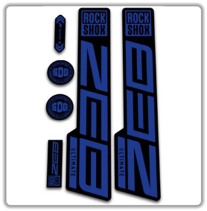 Blue ROCKSHOX ZEB ULTIMATE fork stickers