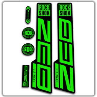 ROCKSHOX ZEB ULTIMATE fork stickers fluorescent green
