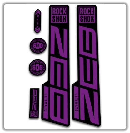 hope purple ROCKSHOX ZEB ULTIMATE fork stickers