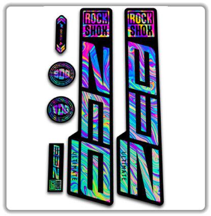 ROCKSHOX ZEB ULTIMATE fork stickers oilslick