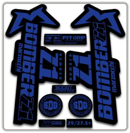2020 Marzocchi Bomber Z1 GRIP Fork Stickers Blue