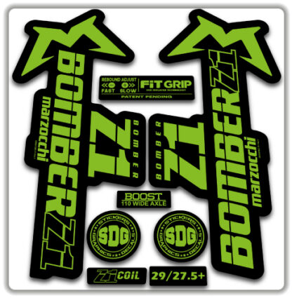 2020 Marzocchi Bomber Z1 GRIP Fork Stickers Green
