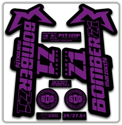 2020 Marzocchi Bomber Z1 GRIP Fork Stickers Hope Purple