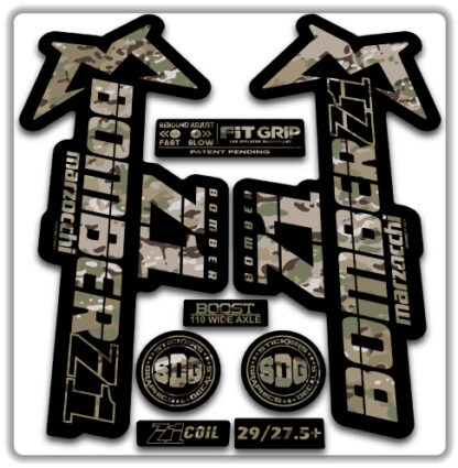2020 Marzocchi Bomber Z1 GRIP Fork Stickers Multicam
