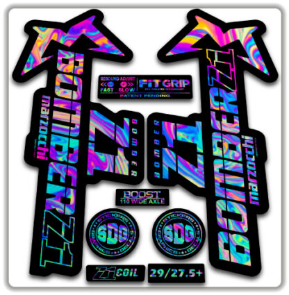 2020 Marzocchi Bomber Z1 GRIP Fork Stickers Oilslick