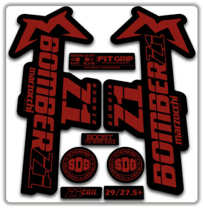 2020 Marzocchi Bomber Z1 GRIP Fork Stickers Red