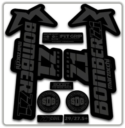 2020 Marzocchi Bomber Z1 GRIP Fork Stickers Stealth