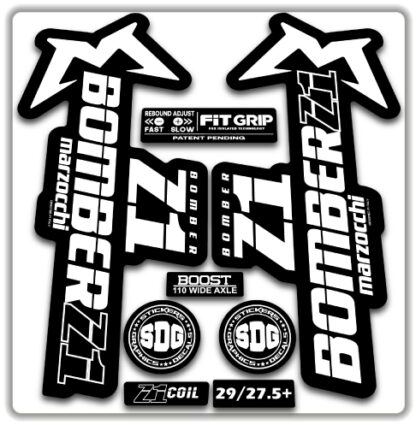 2020 Marzocchi Bomber Z1 GRIP Fork Stickers White