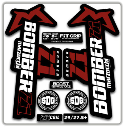 2020 Marzocchi Bomber Z1 GRIP Fork Stickers White Red