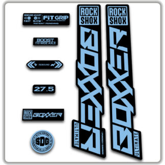 2020 ROCKSHOX BOXXER ULTIMATE Stickers - Light Blue
